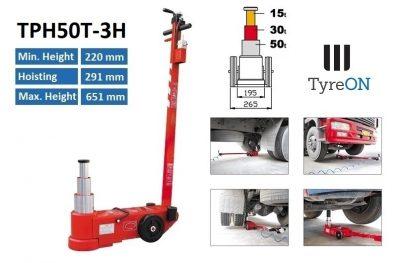 TyreON TPH50T-3H lucht hydraulische krik
